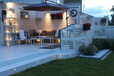 house, patio, garden, lighting, diy, do-it-yourself