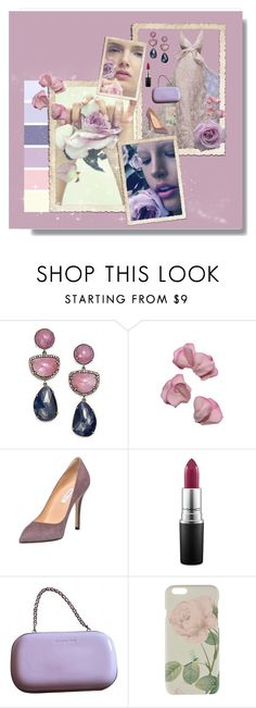 """rose party outfit"" by johanna-aangeenbrug ❤ liked on Polyvore featuring Bavna, Sweet Pea by Stacy Frati, Semilla, MAC Cosmetics, Gianvito Rossi and Ted Baker"