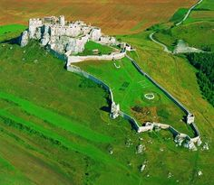 largest medieval castle complex in Europe - Spišský Castle in Slovakia