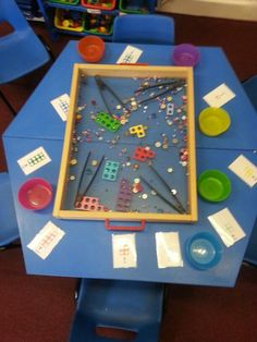 Collecting the amount of the different objects shown on each child's Numicon card