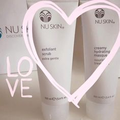 Keep your skin happy with this amazing exfoliant scrub & hydrating mask. Your skin will fall in LOVE! ⭐️ Enter CA00173383 for a discount at the checkout: www.nuskin.com  ⭐THE SCRUB⭐ Smooths & evens skin. Contains natural marine diatoms (fossilized algae). Releases dead cell build-up & pore-blocking impurities ⭐THE MASK⭐ Binds moisture to the skin to reduce dryness. Moisturizes & hydrates. Infuses soothing nutrients into the skin. Creates a natural, dewy glow. #Skincare #Skin #HealthySkin