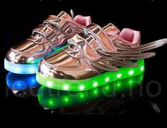 2016 led shoes Kids wings sneakers USB charging light up colorful leisure cool luminous children shoes with light for boy girls Light Up Shoes, Lit Shoes, Gold Wedding Shoes, First Walkers, Kids Lighting, Kids Sneakers, Boys Shoes, Girl Pictures, Stuff To Buy
