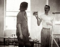 Frank O'Hara with the Painter Grace Hartigan (1950s)