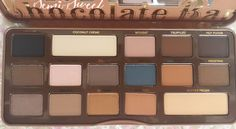 Color Me With Beauty: TOO FACED Semi-Sweet Chocolate Bar: primele impresii, review, swatches & more! Too Faced Semi Sweet, Swatch, Eyeshadow, Bar, Chocolate, Color, Beauty, Colour, Schokolade