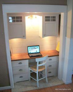 diy closet office. Closet Turned Office Reveal Diy