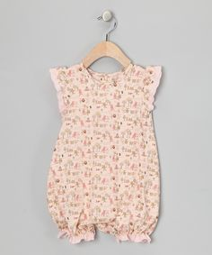 This Peach Whimsical Bubble Romper - Infant by Petit Confection is perfect! #zulilyfinds