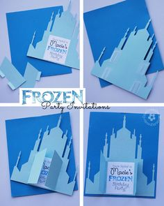 Create these unique Frozen Birthday Party Invitations with a free Silhouette Cutting File {Printable file for non-Silhouette users is included, too} OneCreativeMommy.com