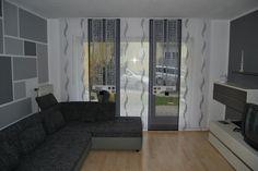 Wellen Schiebevorhang fürs Wohnzimmer mit Doppelnetz Elementen - http://www.gardinen-deko.de/wellen-schiebevorhang-fuers-wohnzimmer-mit-doppelnetz-elementen/