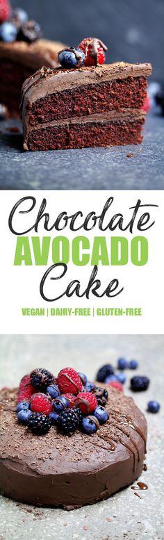 Vegan Gluten-free Chocolate Avocado Cake - UK Health Blog - Nadia's Healthy Kitchen