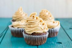 Using Robin Hood Nutri Flour- Gluten-Free to create these decadent gluten-free chocolate cupcakes with peanut butter frosting.