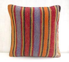Decorative Kilim pillow with Stripes