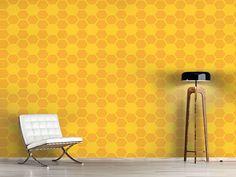 Design #Tapete Einfache Bienenwaben