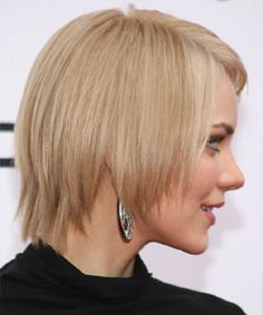 Katharine McPhee with bob razor-sliced haircut front |  Re-design your hair cut with small changes. Take a simple straight bob and razor-slice it into an edgy and uneven look