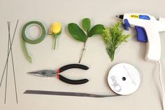 Floral wire and tape can be found in the floral supply section of your local craft store.
