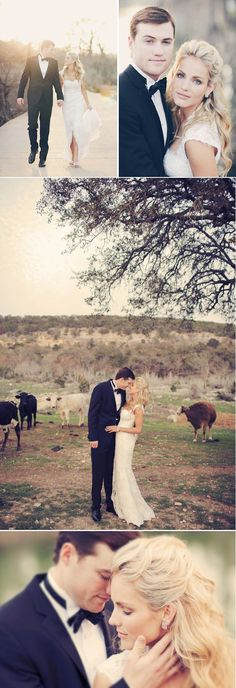 Wedding Photography Ideas : Country wedding. I love the artistic and elegant style and coloring of the photo