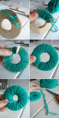 Here are 16 awesome ideas for diy Christmas decorations. Some of the material I got from a dollar tree store. Crafts To Sell, Diy And Crafts, Crafts For Kids, Arts And Crafts, Pom Pom Crafts, Yarn Crafts, Sewing Crafts, Popsicle Stick Crafts, Bath And Beyond Coupon