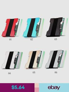 Elwood gun metal business card case business card case and card case business credit card cases ebay clothing shoes accessories reheart Images
