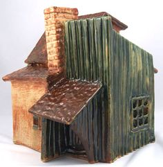 House, paper clay stoneware, cone 6 by Dave the Potter