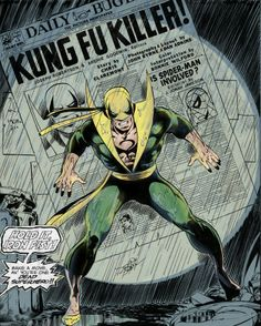 Iron Fist by John Byrne Comic Book Artists, Comic Book Characters, Marvel Characters, Comic Artist, Comic Character, Comic Books Art, Marvel Comics, Marvel E Dc, Marvel Heroes