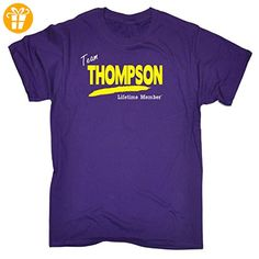 Seine a Familienname Thing Herren – 'Team Thompson Lebenslange Mitglied' Family Namen – Loose Fit T-Shirt Gr. XXL, violett - Shirts mit spruch (*Partner-Link)