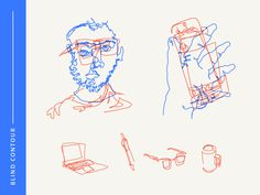 Here is another quick and easy exercise for the CreativeLive 28toMake month. I'm sure a bunch of you are familiar with Blind Contour drawings but if not, it is a quick exercise to practice really l...