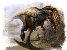 Monolophosaurus (dinosaurio carnosaurio del Jurásico de Asia, 170mA) (Cheung Chung Tat)