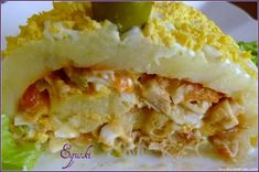 Tronco de pure de patatas relleno de surimi y atun