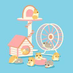 Hamster animation by karimaro - #hamsters #hamster