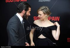 Jake Gyllenhaal and Rachel McAdams attend the 'Southpaw' New York premiere at AMC Loews Lincoln Square on July 20, 2015 in New York City © dpa picture alliance / Alamy