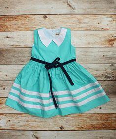 Bahama listra azul Jane Dress - Infantil, Bebês e meninas
