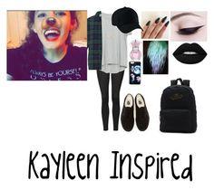 """Kayleen Inspired"" by isabellasmall on Polyvore featuring Topshop, Zara, Essentiel, Jennifer Zeuner, Lime Crime and Vans"