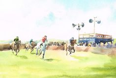 racing in the sunshine 2 watercolour by Jeffy Salt 35 x 23 cms £95.jpg