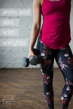 6-moves, 20 minutes, and a set of 5-to-15-pound dumbbells is all you need to move through this arms and abs strength training and toning workout.