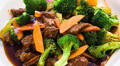 Estofado ligero de carne de res con broccoli