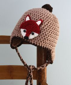 Adorable Fox Earflap Hat by MaryOriginals on Etsy, $38.00