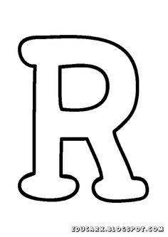 Molde da letra maiúscula R