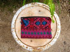 'PINK PANTHER' GUATEMALAN HUIPIL POUCH