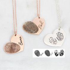 Solid Gold Heart Diamond Necklace/ Heart Shaped Diamond Pendant in Gold/ Pave Heart Necklace/ Love Pendant/ Heart Charm - Fine Jewelry Ideas Engraved Necklace, Dog Tag Necklace, Engraved Jewelry, Watch Necklace, Ring Necklace, Pendant Necklace, Fingerprint Necklace, Thumbprint Necklace, Accesorios Casual