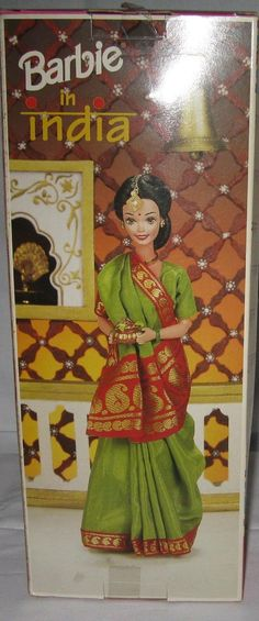Indian Barbie in green saree