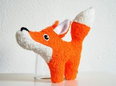 Rassel-Knister-Fuchs // rattle, plush toy fox by Puccino via http://DaWanda.com