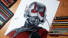 Antman - marvel drawing