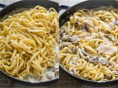 Mom's creamy Chicken Fettuccine Alfredo has been a family favorite for years! Classic Chicken Alfredo is a feel good comfort food - so creamy but light! Fettuccine Alfredo, Fettuccine Recipes, Creamy Pasta Recipes, Chicken Fettuccine, Chicken Alfredo, Alfredo Sauce, Alfredo Lasagna, Chicken Lasagna, Chicken Pasta