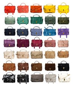 I had purses in every color of the rainbow and some in between as a teen. I always color coordinated my purses and eyeshadow with my outfit. :)