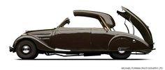 1938 Peugeot 402L Cabriolet Metallique Decouvrable.