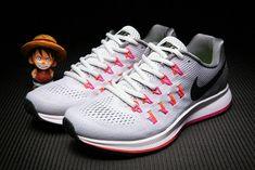 Big Boys Shoe Youth Nike Air Zoom Pegasus 33 White Pink Volt 2018