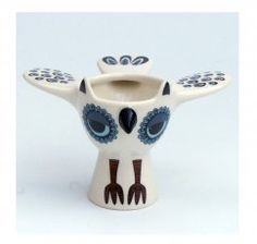 Owl Egg Cups in Pink/Blue/Green/Yellow by Hannah Turner