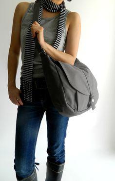 SALE SALE SALE - 25% off // Kylie in Gray // Messenger / Shoulder bag / Tote bag / Purse / Handbag / Women / For her by christystudio on Etsy https://www.etsy.com/listing/62844698/sale-sale-sale-25-off-kylie-in-gray