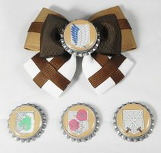 Attack on Titan Hair Bow by SketchyStudios on Etsy $6.03