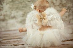 Baby-Flügel und Tutu Baby Flügel und Stirnband von AdornedCreations