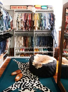 Closet You Can Do This: Turn a Spare Bedroom Into a Walk-In Closet Bedroom Decorating Ideas Can Be S Spare Room Closet, Closet Bedroom, Closet Space, Spare Bedroom Dressing Room Ideas, Spare Bedroom Decor, Dressing Rooms, Farmhouse Side Table, Cute Dorm Rooms, Closet Designs